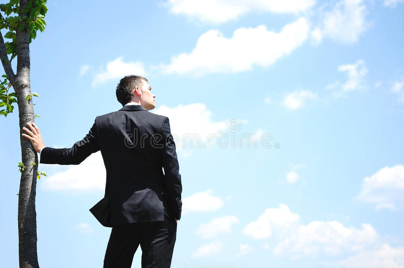 Business Man On Sky Royalty Free Stock Photography