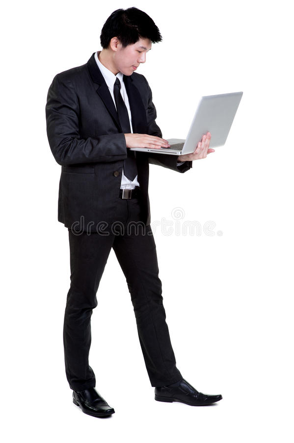 Download Business Man Smart Hold Notebook Suit Stock Photo - Image: 35738858