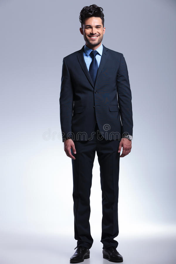 Business Man Smiles At You Royalty Free Stock Image