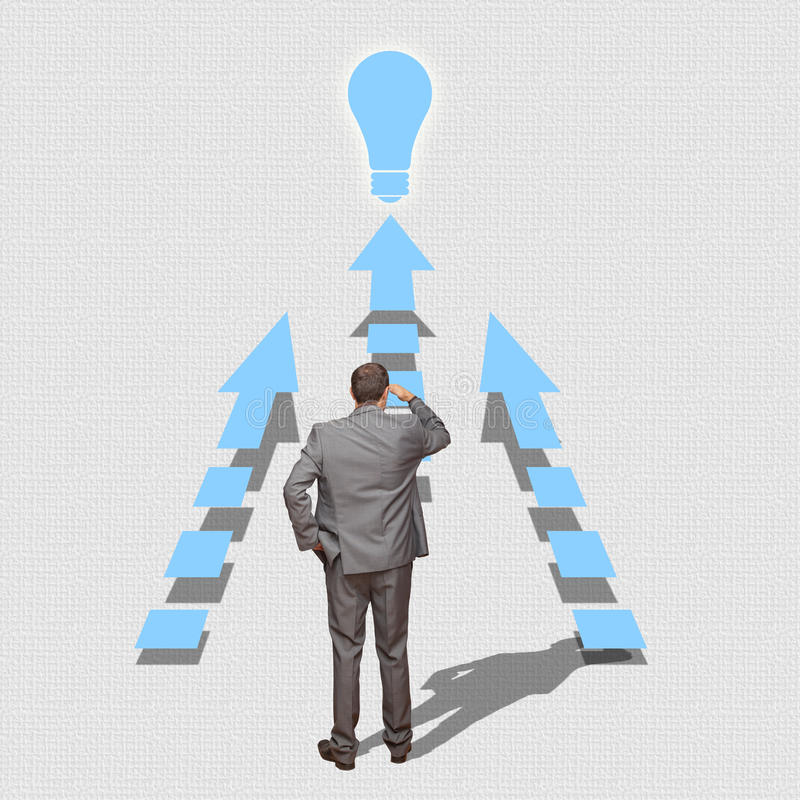 Business man solving problems looking ahead stock photo image of download business man solving problems looking ahead stock photo image of city money thecheapjerseys Image collections