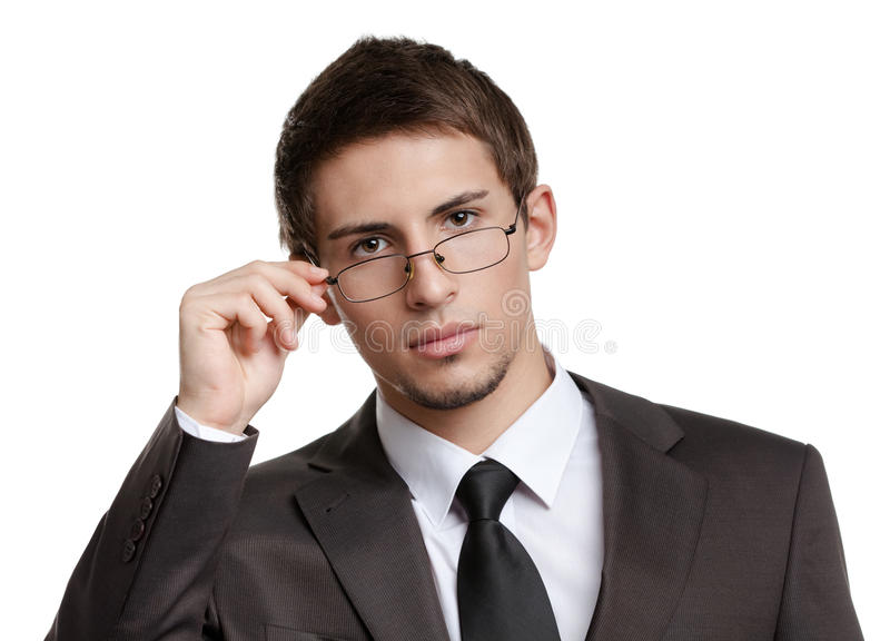 Download Business Man In Spectacles Royalty Free Stock Image - Image: 28980556