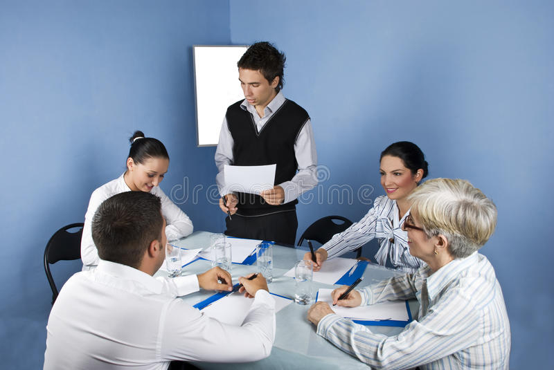 Business Man Speech Stock Photography