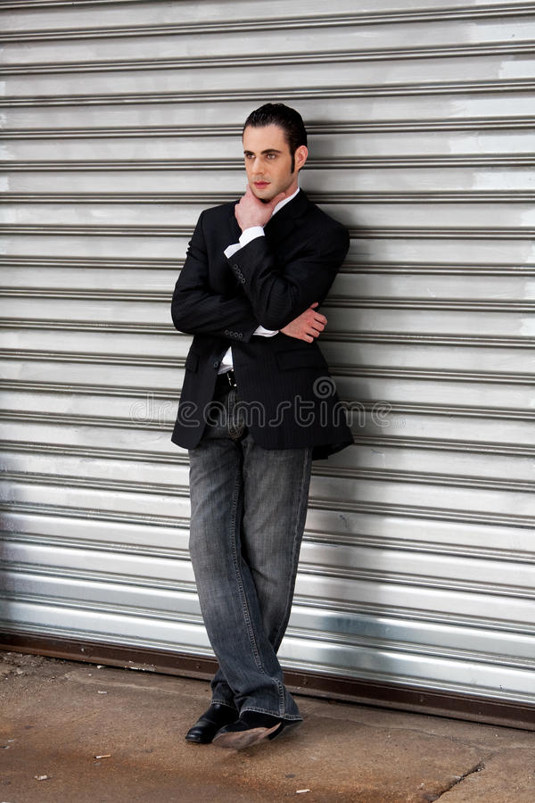 Download Business man standing stock image. Image of business, ponder - 9799243