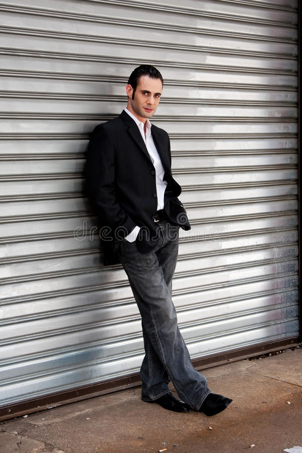 Download Business man standing stock photo. Image of grey, silver - 9799254