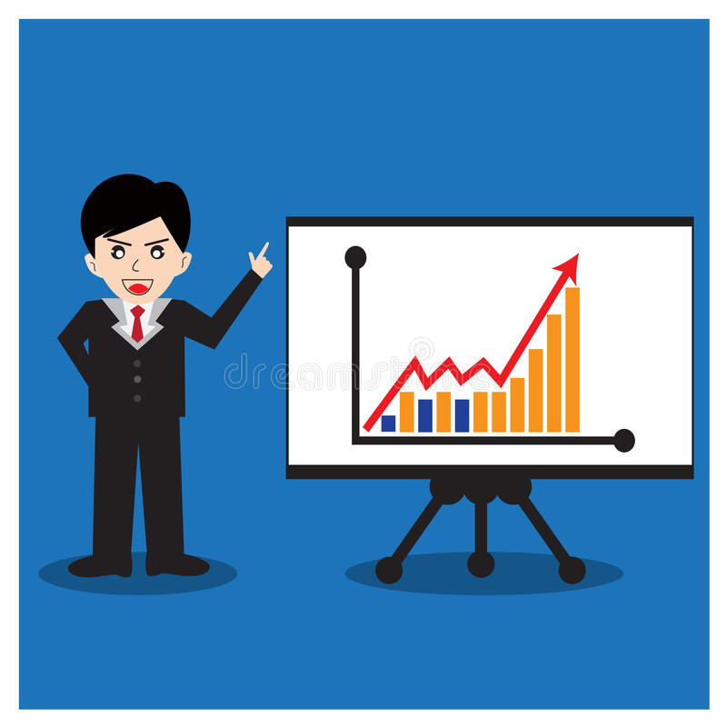 Download Business Man Standing Pointing Stock Vector - Image: 43290402