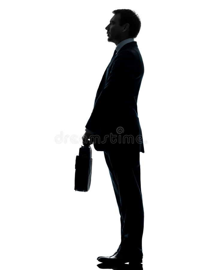 Business Man Standing Proflie Silhouette Stock Image ...