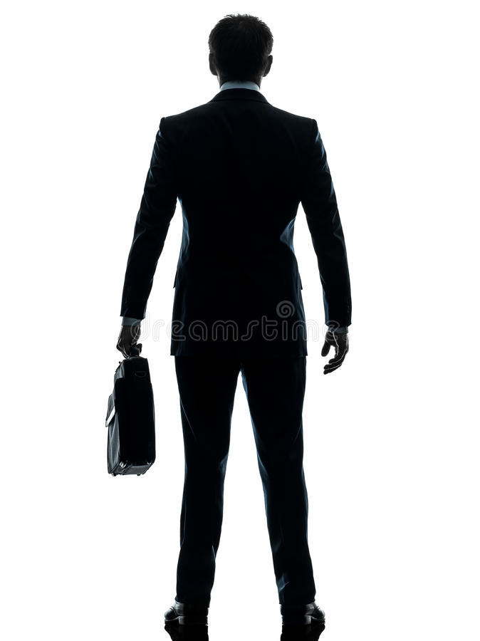 Business Man Standing Rear View Silhouette Stock Image ...