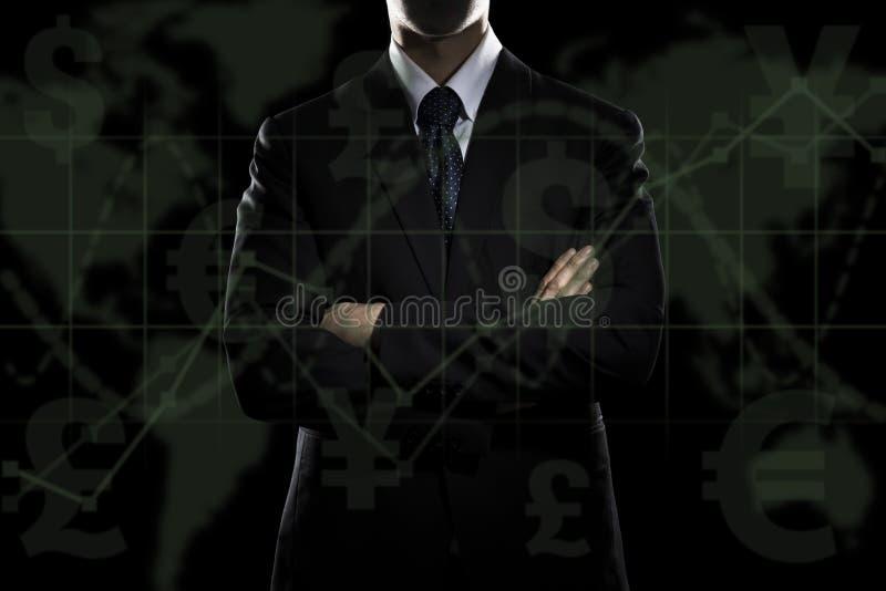 Business man standing stock photo