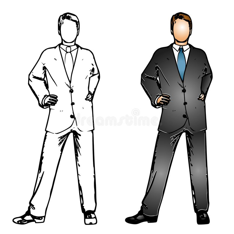 Download Business Man Suit stock illustration. Image of illustrated - 8020367