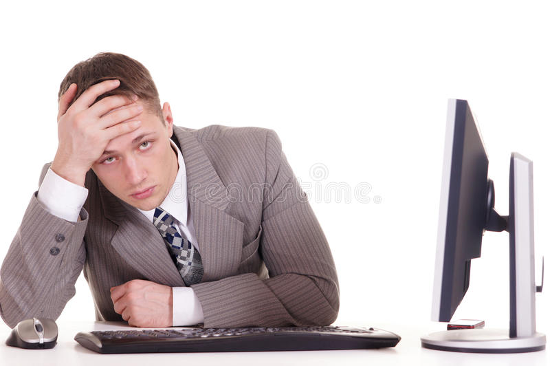 Download Business Man In A Suit For Computer Stock Photo - Image: 23311364
