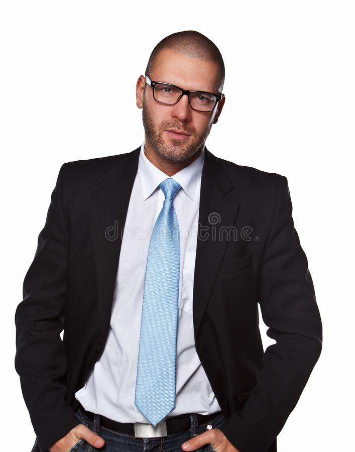 Business man in a suit. royalty free stock photos