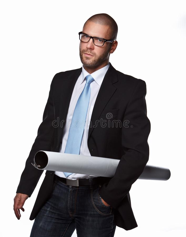 Business man in a suit. royalty free stock images