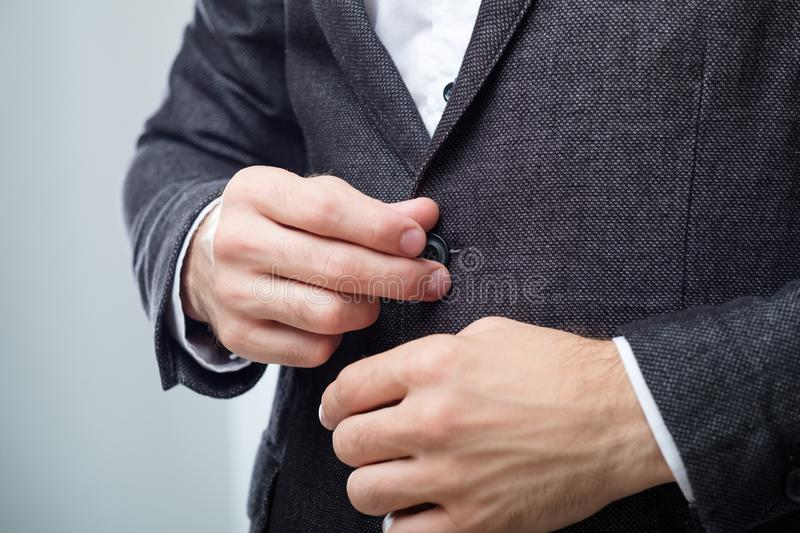 Business man suit jacket stylish office dress code stock photography