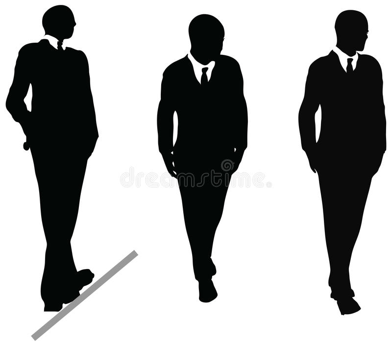 business man in suit and tie silhouette illustration on