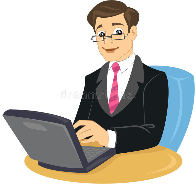 Download A Business Man In Suit And Tie Sitting On Chair Stock Vector - Illustration: 14064039