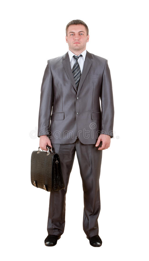 Download Business Man With Suitcase Royalty Free Stock Photography - Image: 19036837