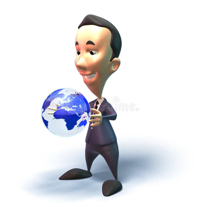 Download Business Man Takes On The Worl Stock Illustration - Image: 2261869