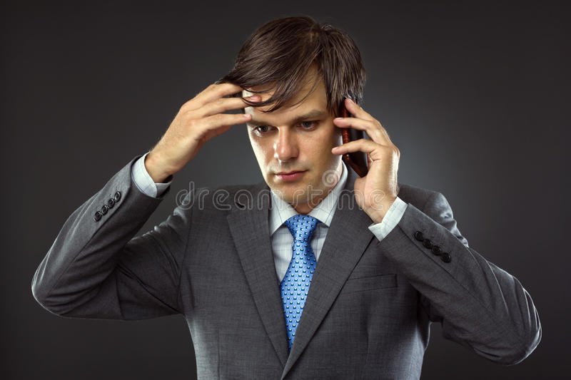Download Business Man Talking On His Cellphone Stock Photo - Image of handsome, cellular: 26162962