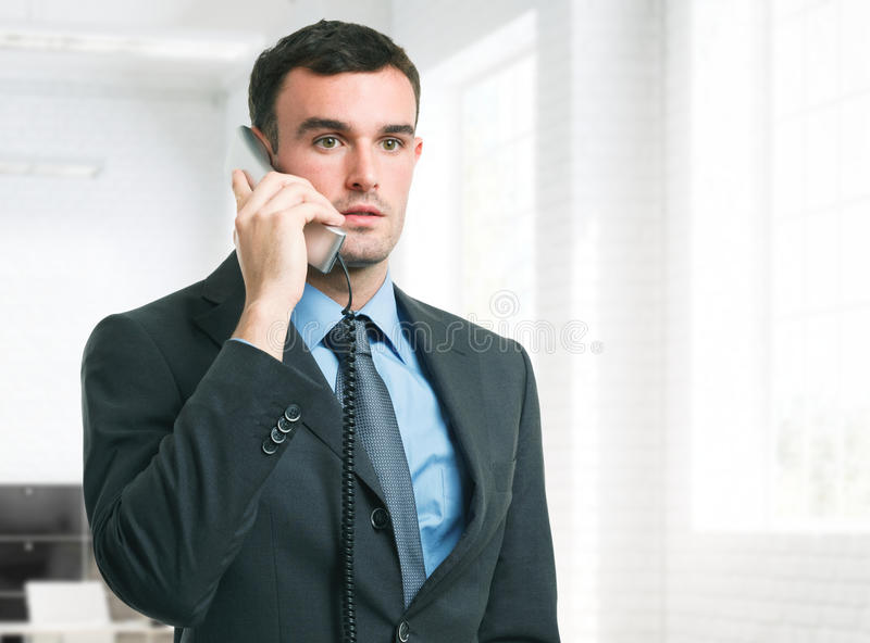 Download Business Man Talking On The Phone Stock Image - Image: 29018581