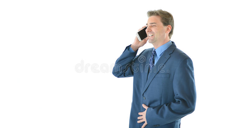 Download Business Man Talking On Smart Phone Stock Photo - Image of occupation, blue: 83718864