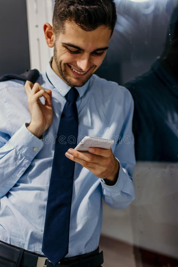 Business man with the telephone royalty free stock images