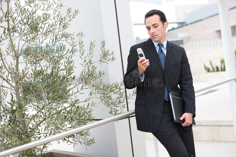 Download Business Man Texting Stock Image - Image: 8077461