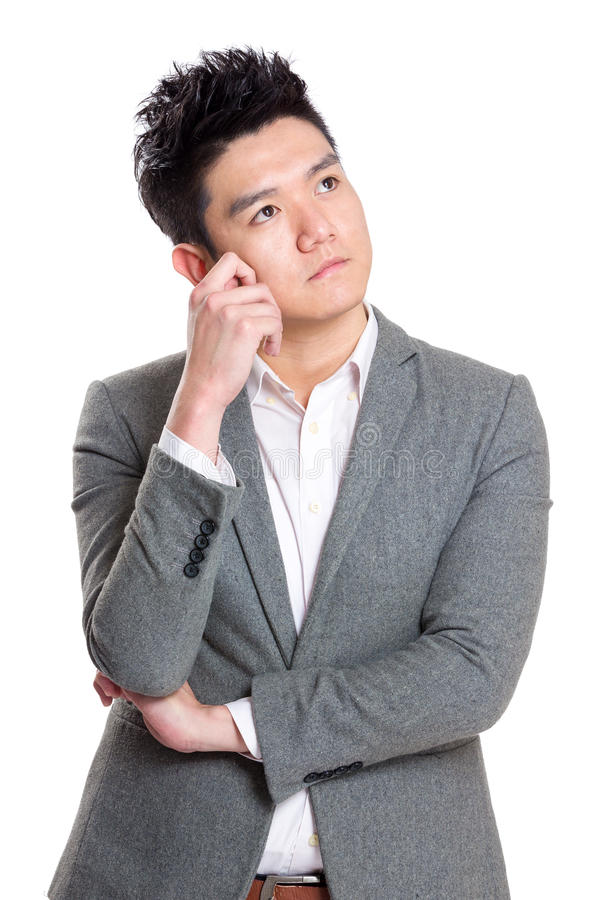 Business man think royalty free stock photos