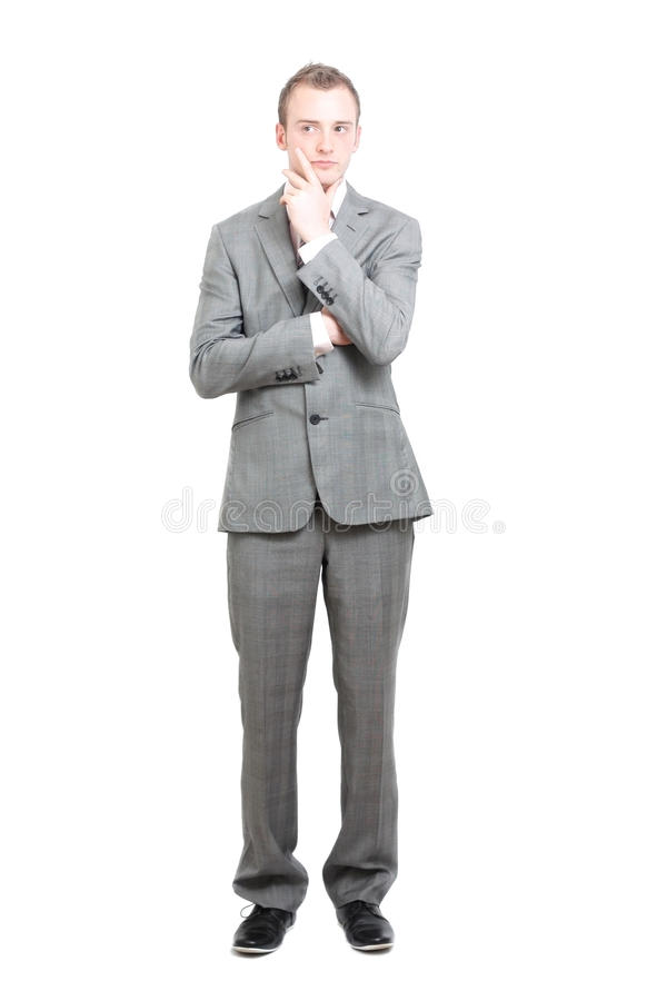 Download Business man thinking stock photo. Image of isolated - 14554800