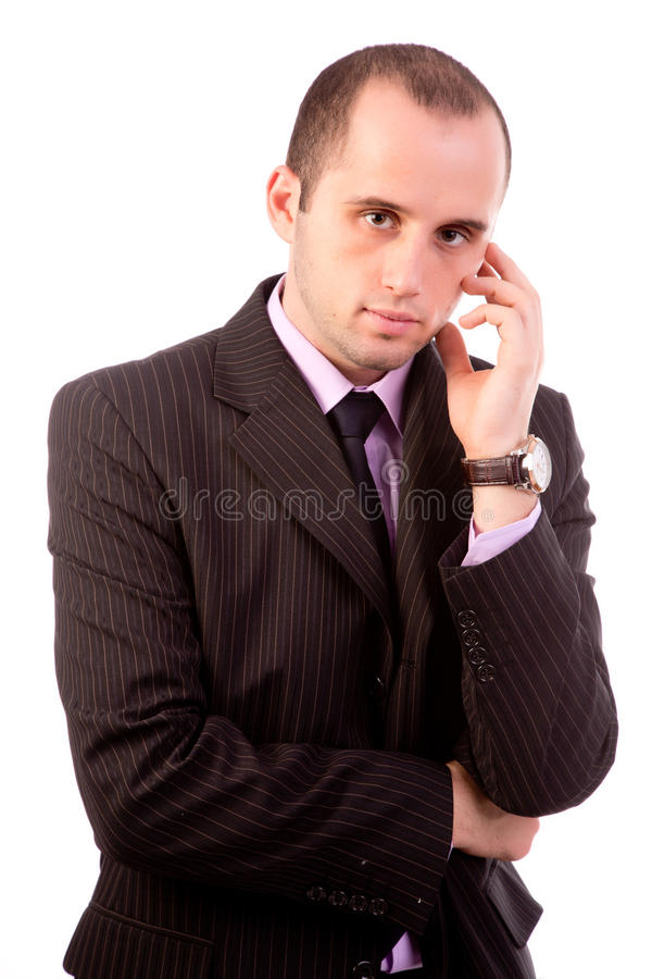 Business man thinking stock image