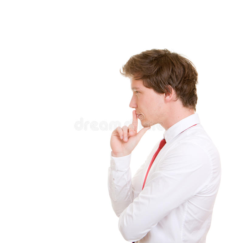 Business man thinking stock photography