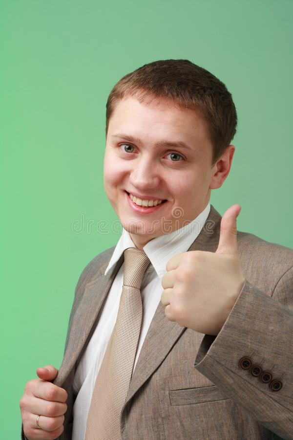 Download Business man with thumb up stock photo. Image of face - 11879112