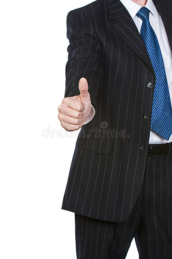 Business Man Thumbs Up Stock Image