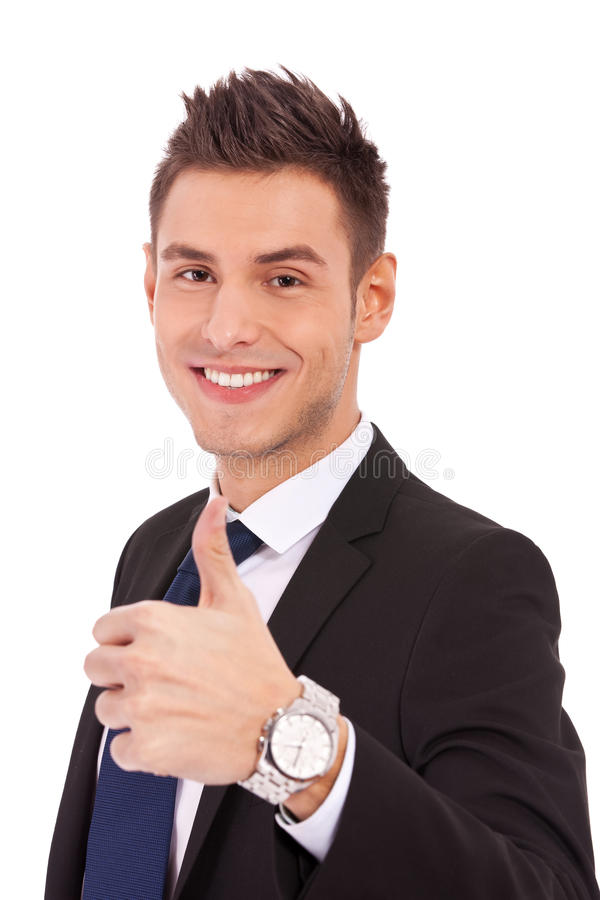 Download Business Man With Thumbs Up Gesture Stock Photo - Image: 24441028