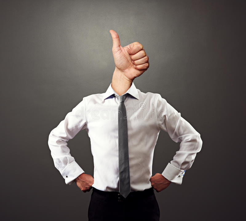 Business Man With Thumbs Up Gesture Royalty Free Stock Photo