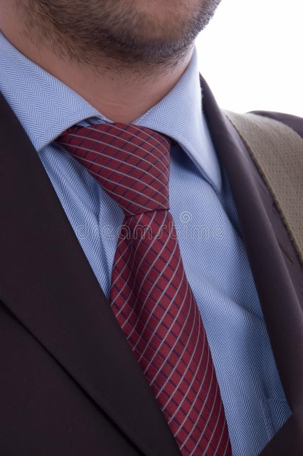 Business man tie detail stock images