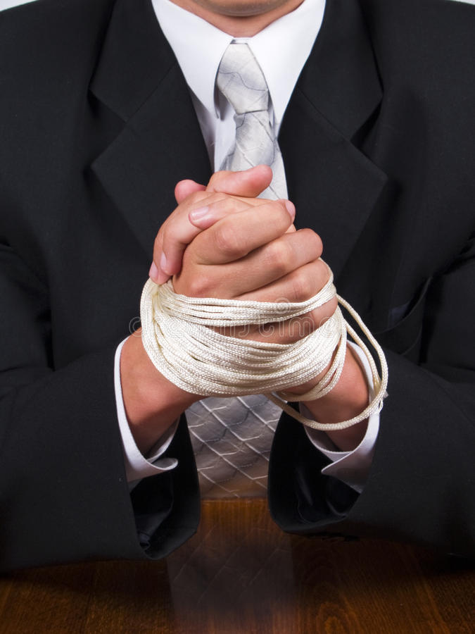 Free Business Man Tied Hands Royalty Free Stock Photography - 14823367