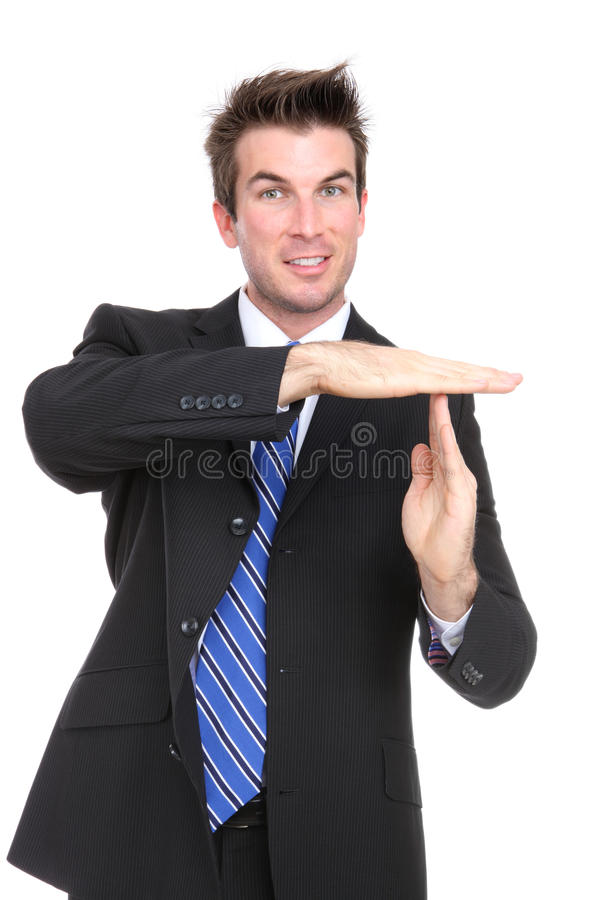Download Business Man Time-out stock image. Image of success, hand - 17495869