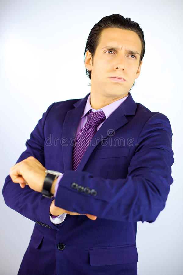 Business Man Tired Of Waiting Client Stock Photo - Image ...