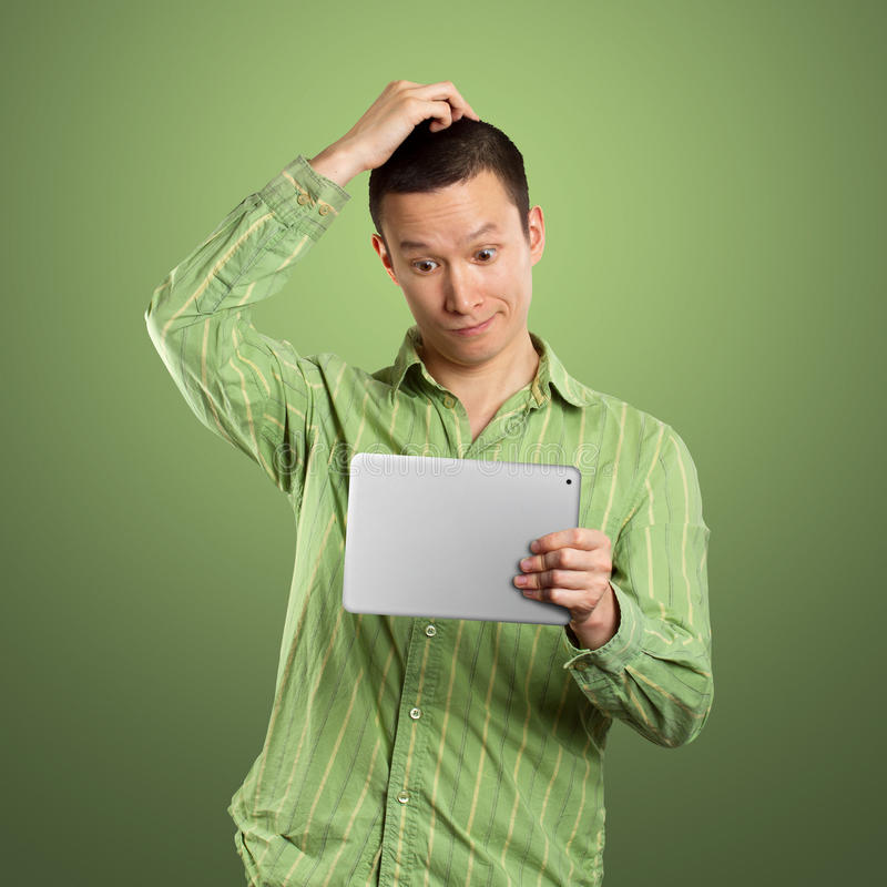 Business Man With Touch Pad stock photography