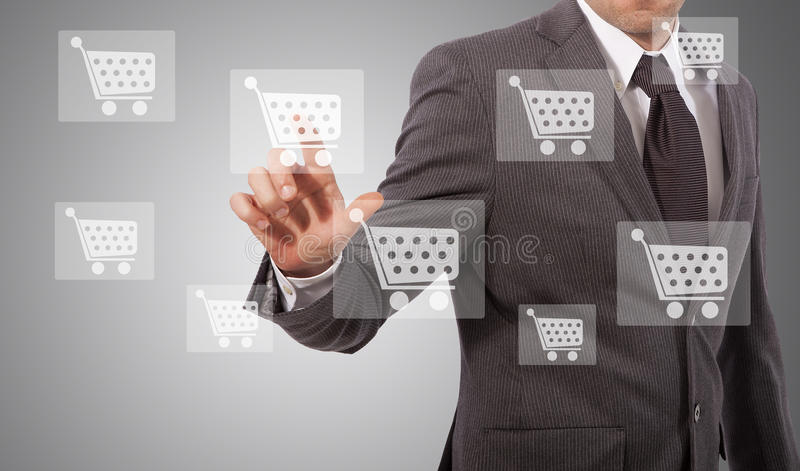 Ecommerce icon touh royalty free stock image