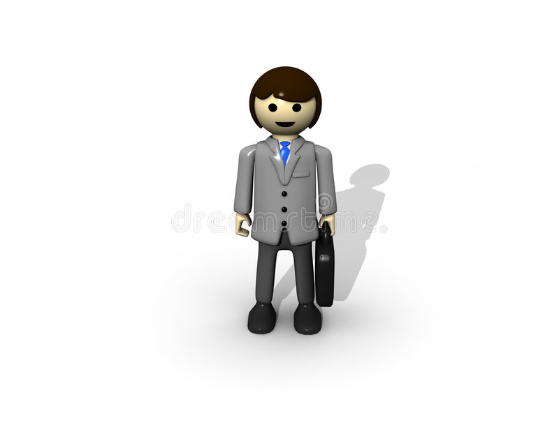 Business man toy stock photos