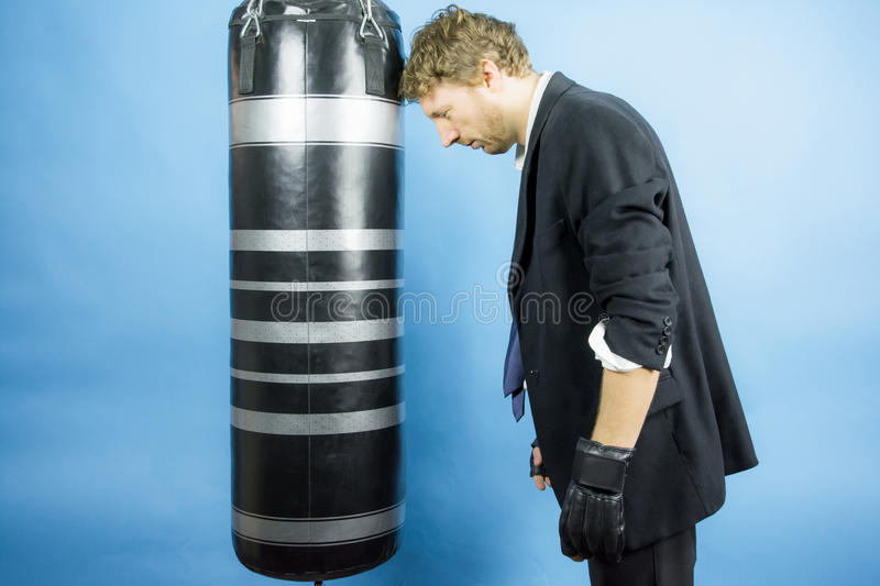 Download Business Man Are Training To Box Stock Image - Image: 36688567
