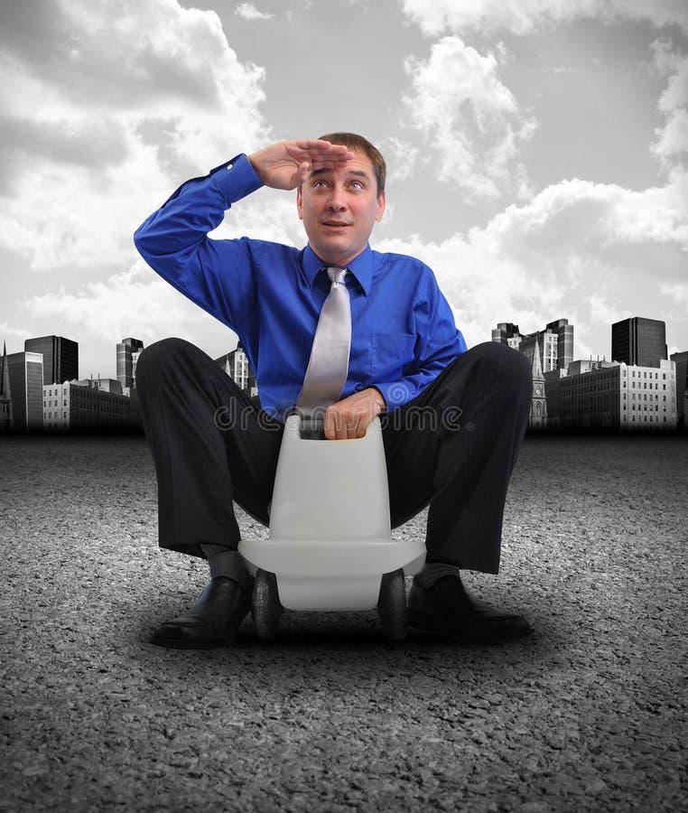 Business Man Travel On Car Stock Photo