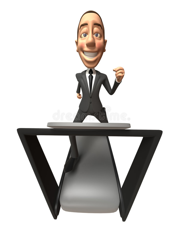 Business Man On A Treadmill Stock Image