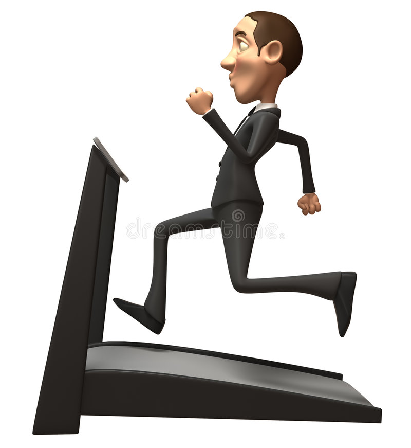 Download Business Man On A Treadmill Stock Illustration - Image: 5328562