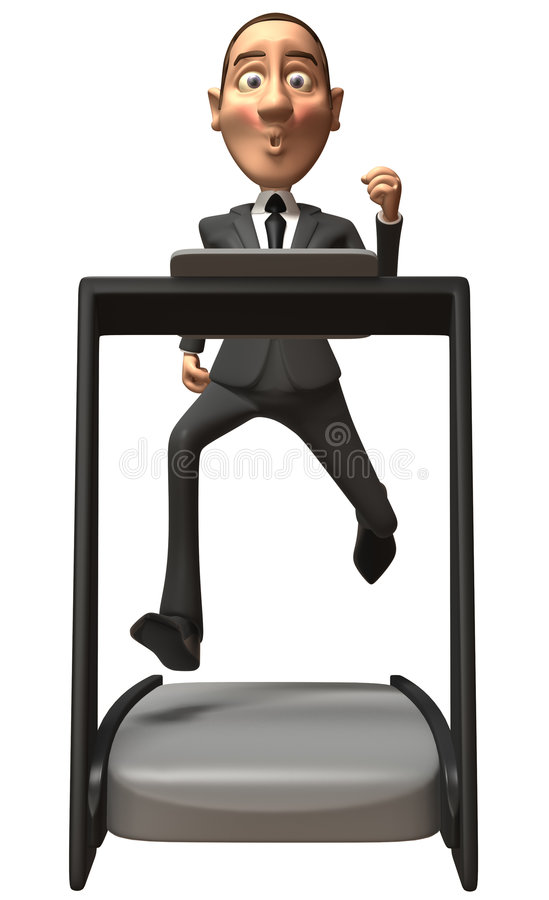 Business Man On A Treadmill Royalty Free Stock Images