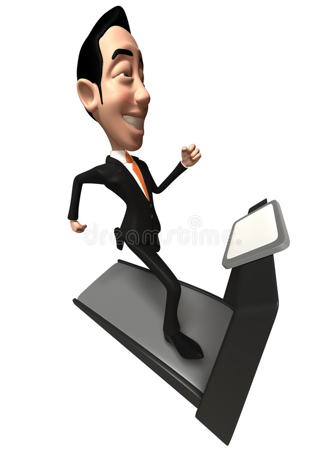 Business Man On A Treadmill Royalty Free Stock Image
