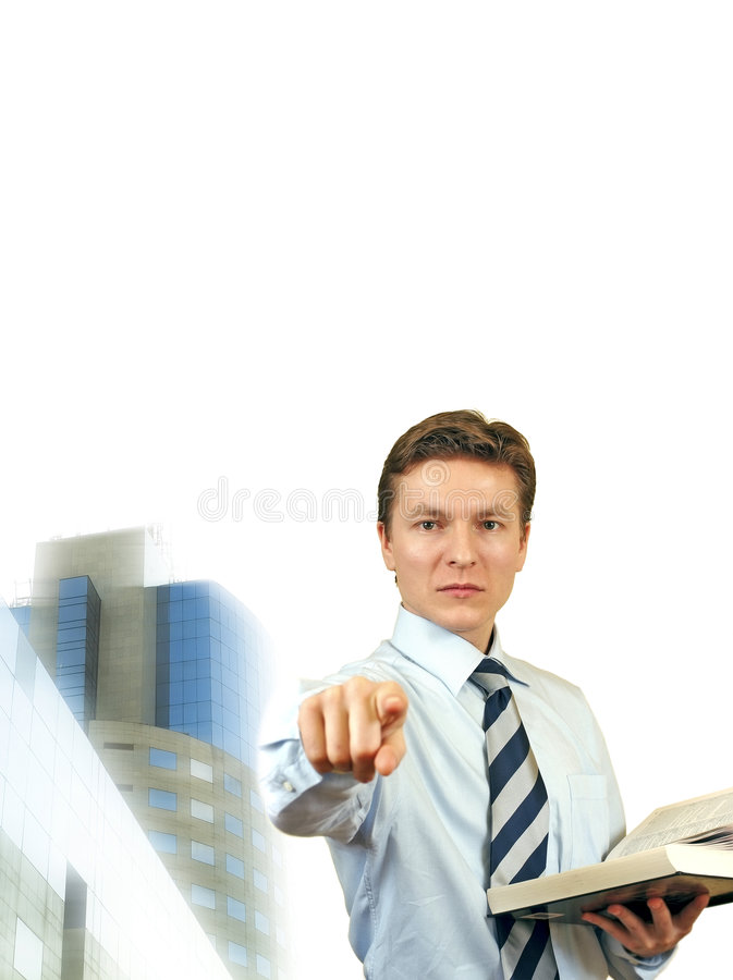 Free Business Man Trying To Impose , Young Lawyer With Stock Photos - 4695573