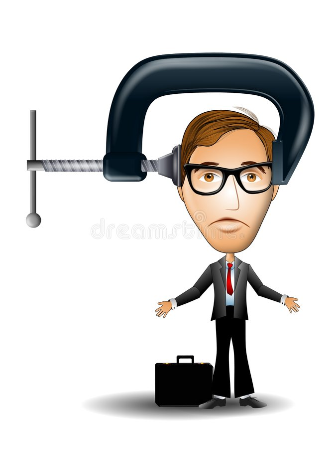 Download Business Man Under Pressure Stock Illustration - Image: 5576363