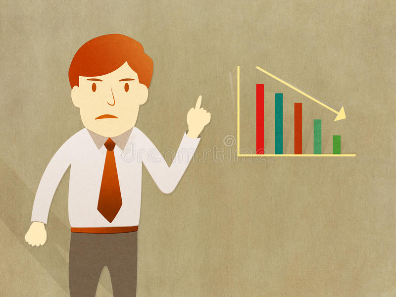 Download Business Man Unhappy Growth Progress Graph Royalty Free Stock Image - Image: 26007876
